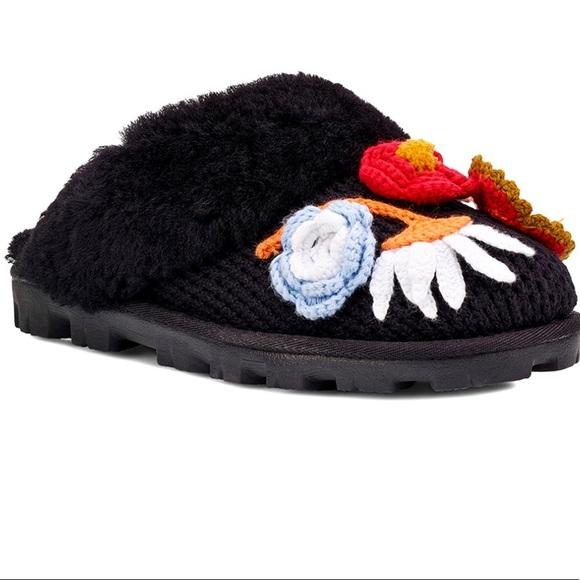 f9187343836 Ugg Black Crochet Coquette Slippers NWT NWT